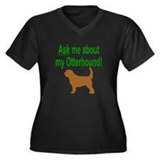 OH Ask Me Women's Plus Size V-Neck Dark T-Shirt