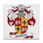 Mendez Family Crest Tile Coaster