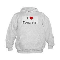 I Love Concrete Hoodie