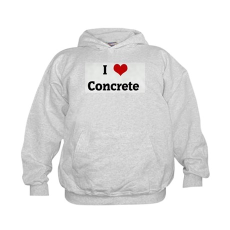 I Love Concrete Kids Hoodie
