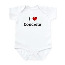 I Love Concrete Infant Bodysuit