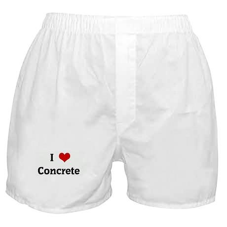 I Love Concrete Boxer Shorts