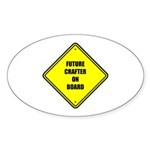 Baby On Board - Future Crafter Sticker (Oval 10 pk