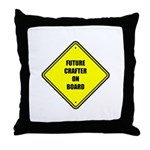 Baby On Board - Future Crafter Throw Pillow