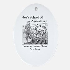 Joe's School of Agriculture Oval Ornament