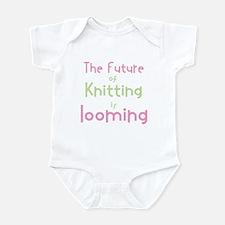 Cute Knitting yarn crafts Infant Bodysuit