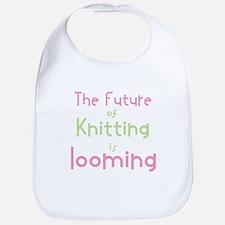 Cute Knitting yarn men crafts Bib
