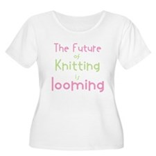 The future is looming-pinkgreen Plus Size T-Shirt
