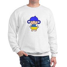 Ukraine Flag Girl Sweatshirt