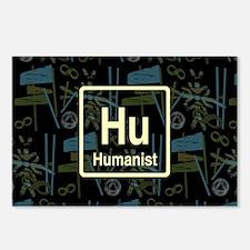 HUMANIST RETRO DARK Postcards (Package of 8)