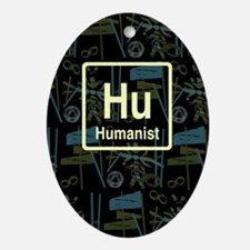 HUMANIST RETRO DARK Oval Ornament