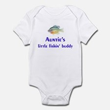 auntie's fishin' buddy Infant Bodysuit
