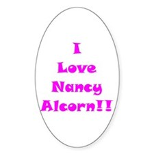 I Love Nancy Alcorn Oval Decal