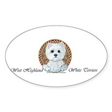 Westie Medallion Terrier Oval Decal
