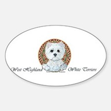 Westie Medallion Terrier Oval Decal