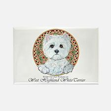 Westie Medallion Terrier Rectangle Magnet