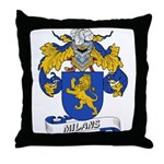 Milans Family Crest Throw Pillow