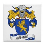 Milans Family Crest Tile Coaster
