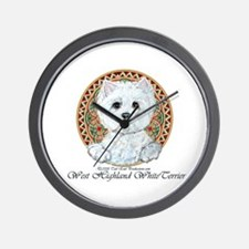 Westie Medallion Terrier Wall Clock
