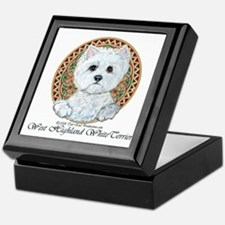 Westie Medallion Terrier Keepsake Box