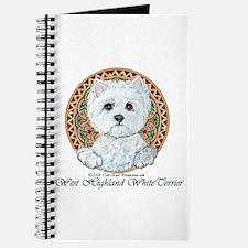 Westie Medallion Terrier Journal