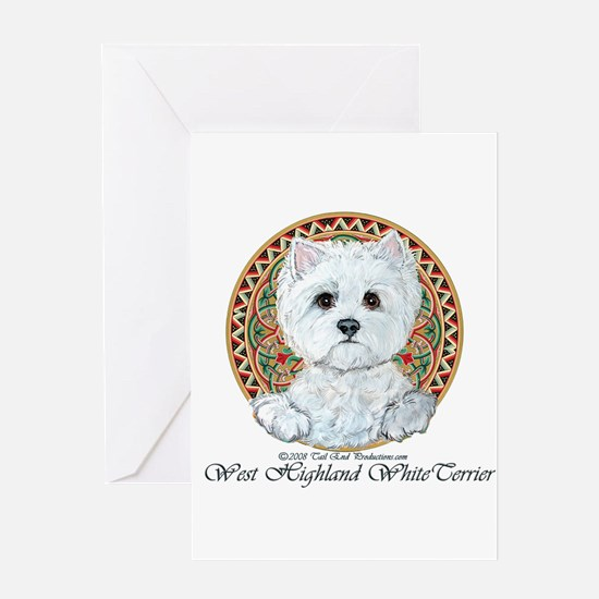 Westie Medallion Terrier Greeting Card
