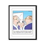 Receding Gum Comb-over Framed Panel Print