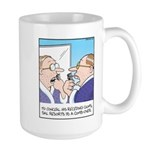 Receding Gum Comb-over Large Mug