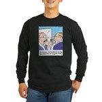 Receding Gum Comb-over Long Sleeve Dark T-Shirt
