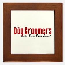 The Dog Groomers Bada Bing Framed Tile