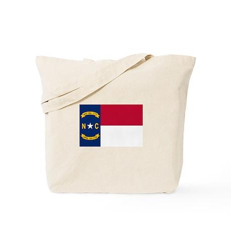 """North Carolina State Flag"" Tote Bag"