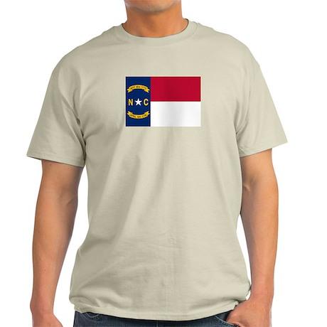 """North Carolina State Flag"" Light T-Shirt"