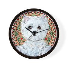 Westie Medallion Terrier Wall Clock