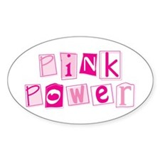 Pink Power Oval Decal