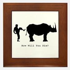 How will you die? Framed Tile