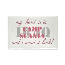 My heart is in Camp Scania Rectangle Magnet