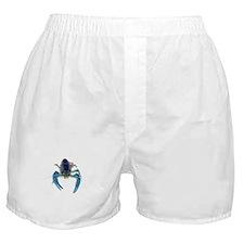 Blue Crayfish Boxer Shorts