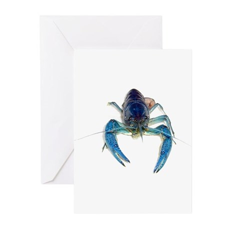 Blue Crayfish Greeting Cards (Pk of 10)