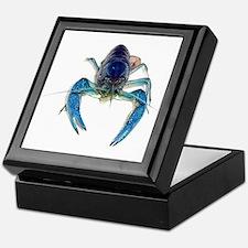 Blue Crayfish Keepsake Box