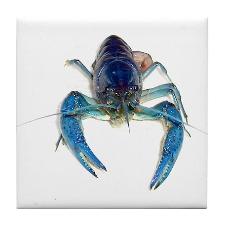 Blue Crayfish Tile Coaster