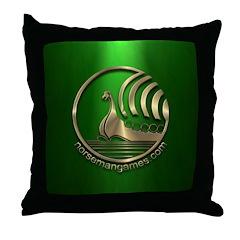 Norseman URL Bronze Green Throw Pillow