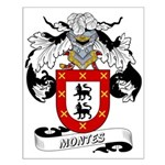 Montes Family Crest Small Poster