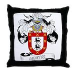 Montes Family Crest Throw Pillow