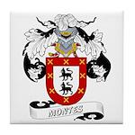 Montes Family Crest Tile Coaster