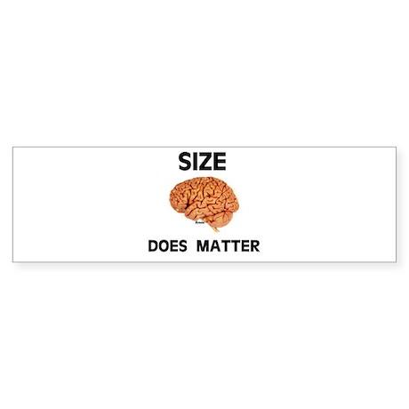 SIZE MATTERS Bumper Sticker