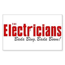 The Electricians Bada Bing Rectangle Decal