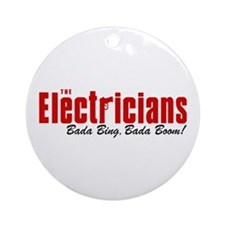 The Electricians Bada Bing Ornament (Round)