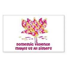 Domestic Violence Sisters Rectangle Decal