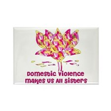 Domestic Violence Sisters Rectangle Magnet