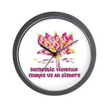 Domestic Violence Sisters Wall Clock